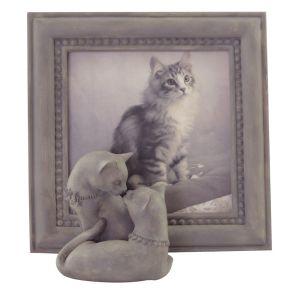 Fotolijst met Katten taupe