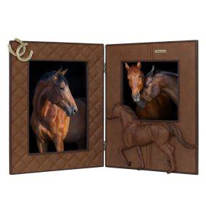 Fotolijst Paarden tweeluik Roestbruin