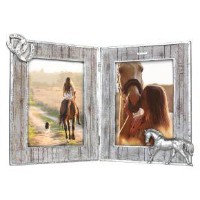 Fotolijst Paarden tweeluik Houtmotief