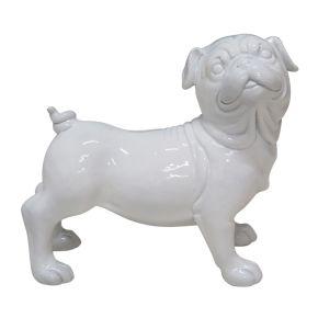 Spaarpot Hond Glanzend Wit