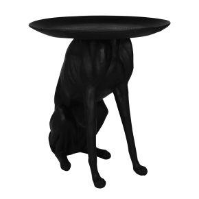 Bijzettafel Hond Zwart