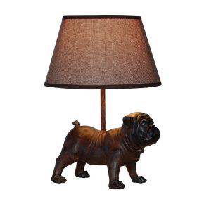 Lamp Bulldog Bruin