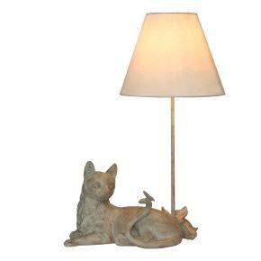 Lamp Kat met Vlinder