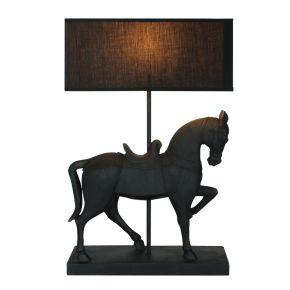 Lamp Paard Staand Zwart