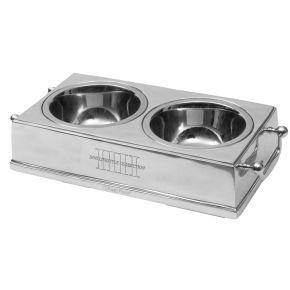 Voederbak Aluminium HH Hond (Laag)