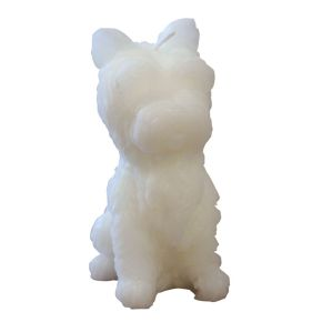 West Highland terrier kaars wit