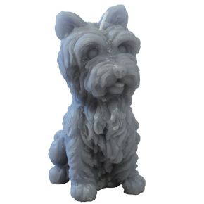 West Highland terrier kaars grijs