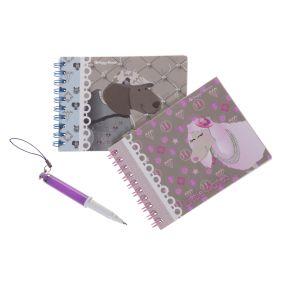 Mini notitieboek inclusief pen
