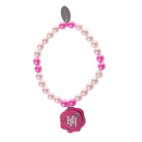 Armbandje fijne parel roze HH
