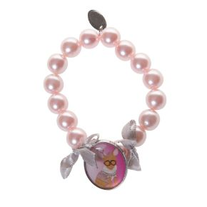 Armbandje grote parel roze Pippa