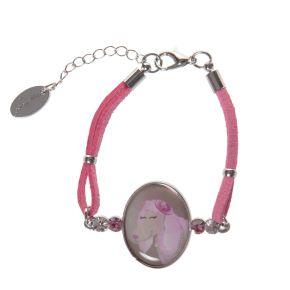 PU leren armband roze Bella
