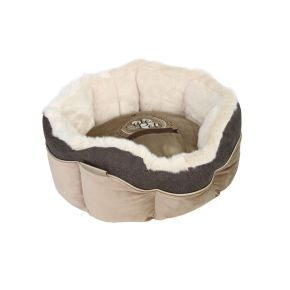 Mand rond Cute Pets Taupe