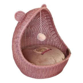 Wieg Wicker Cute Pets Roze