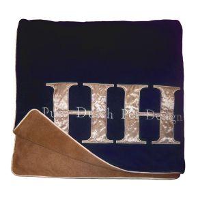 Fleecedeken Donkerblauw/Beige XS - 20-25 x 1,0cm