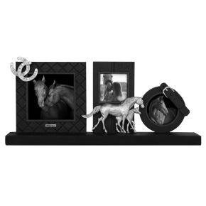 Fotolijst Paarden drieluik Zwart