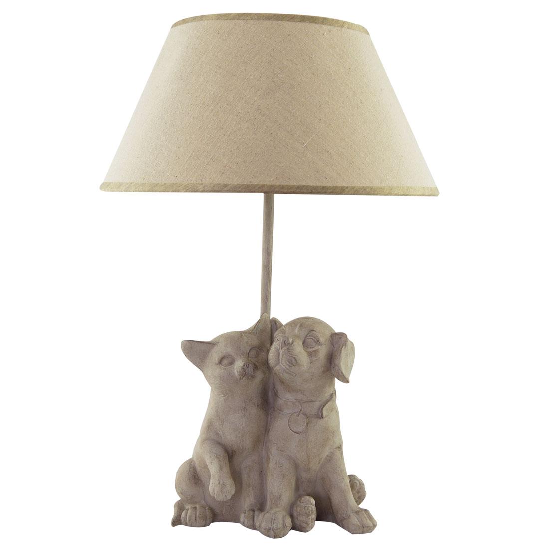 lamp met hond en kat happy house pets your lifestyle. Black Bedroom Furniture Sets. Home Design Ideas