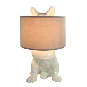 Lamp met verborgen Hond Glanzend Wit