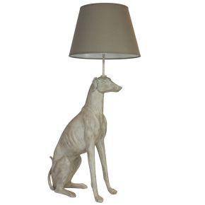 Lamp Windhond zittend (Beige)