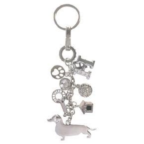 Sleutelhanger Teckel (zilver)