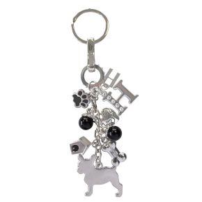 Sleutelhanger Franse Bulldog (zwart)