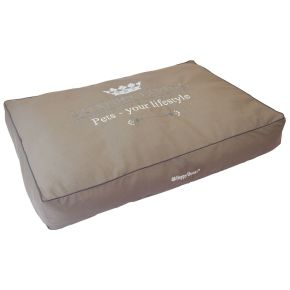 Hoes blokkussen Luxury Living (S) Taupe S - 95 x 65 x 15 cm