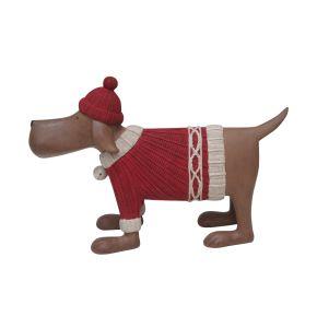 Winter Decoratie Hond met trui
