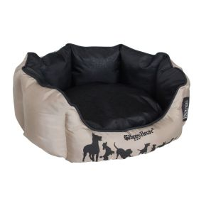 Mand rond Dog Lifestyle (M) Taupe / Zwart