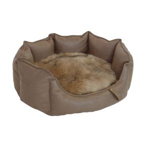 Mand rond VIP Collectie (M) Taupe