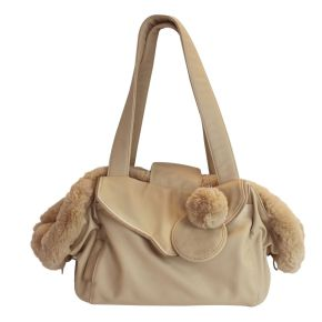 Luxury Dog Carrier Tas Beige