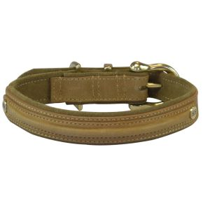Luxe halsband Camel