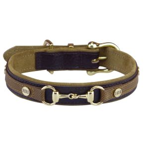 Luxe classical halsband Bruin