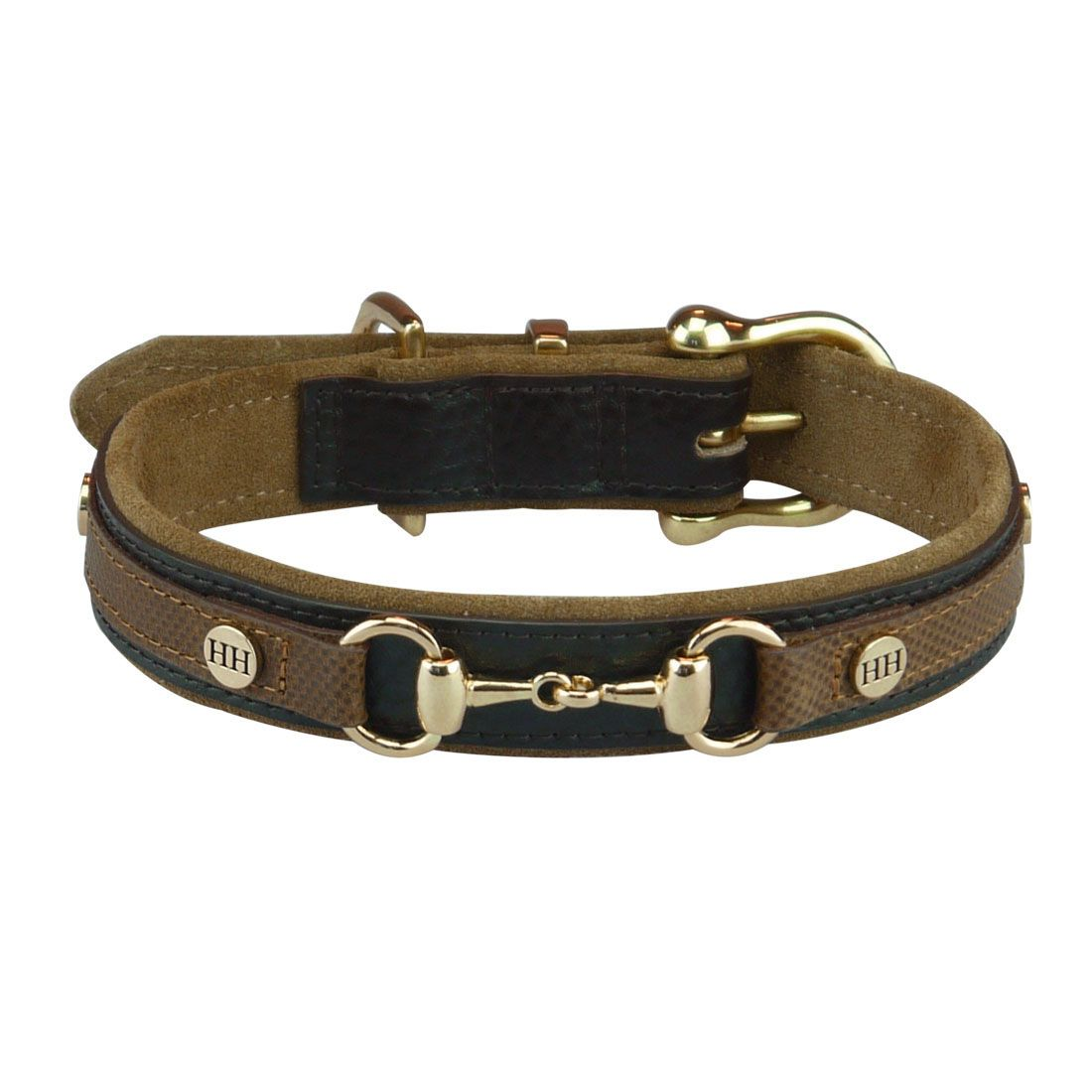 Luxe classic leren halsband maat m bruin happy house for Classic house nl