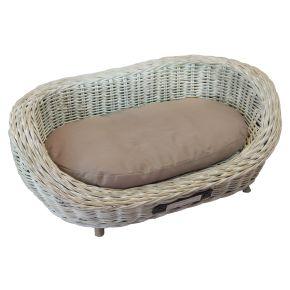 Sofa riet grof gevlochten (13 mm) Ovaal Wit