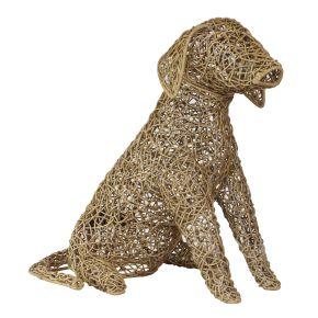 Lamp Hond Riet fijn gevlochten (M) Natural
