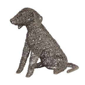 Lamp Hond Riet fijn gevlochten (M) Taupe
